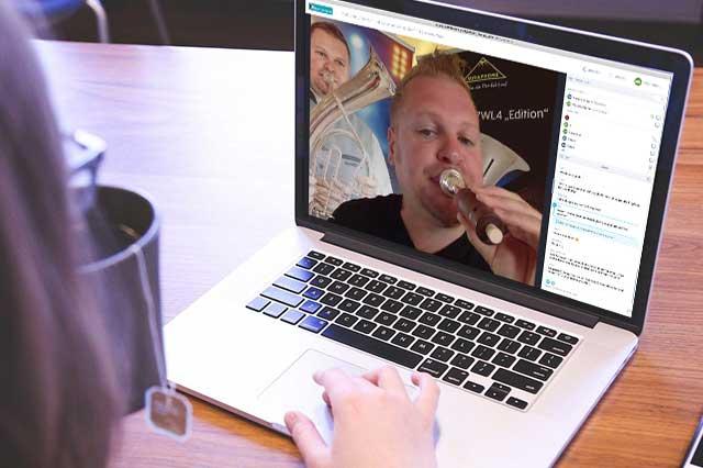 Online Seminare der BDB Online Akademie auf der Plattform Blasmusik.Digital